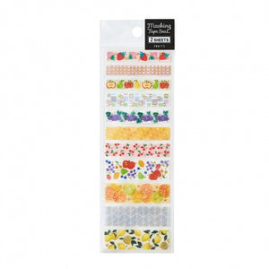 Pine Book gold foil washi sticker - Fruits TM00896