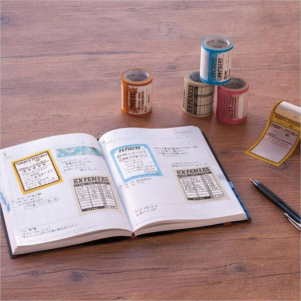 Mark's maste washi tape for diary - Phrase of the day