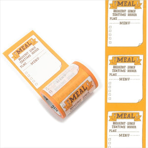 Mark's maste washi tape for diary - Meal