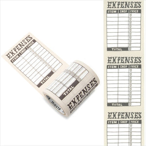 Mark's maste washi tape for diary - Expenses