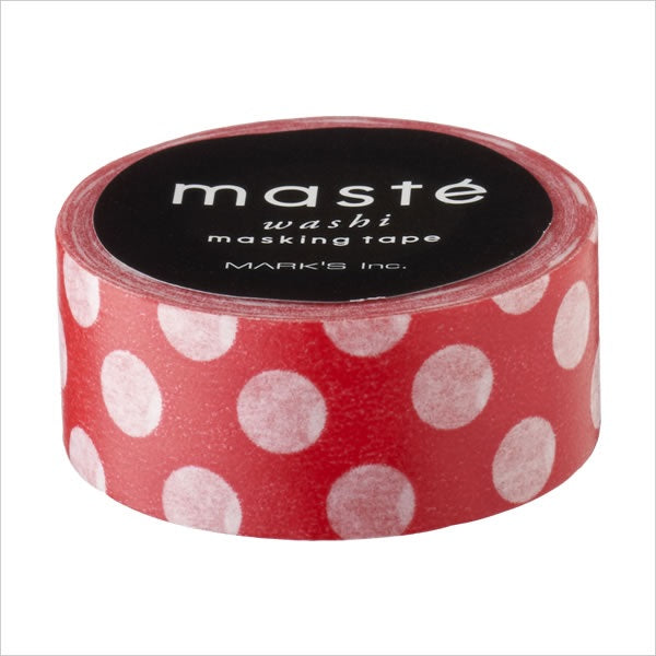Mark's maste BASIC - Red and white dots washi tape