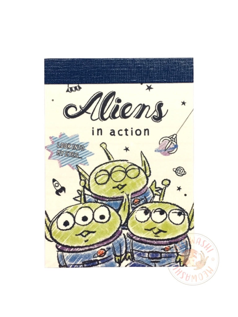 Toy Story Aliens in action mini memo pad 63168