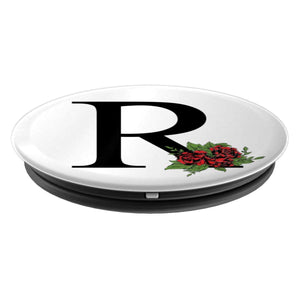 Monogram Letter R Pop Socket - PopSockets Grip and Stand for Phones and Tablets