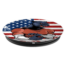 Football USA Flag Panther PopSockets Grip and Stand for Phones and Tablets