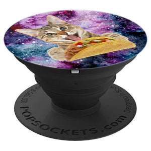 Catstronaut  Cat In Space  with Taco - PopSockets Grip and Stand for Phones and Tablets