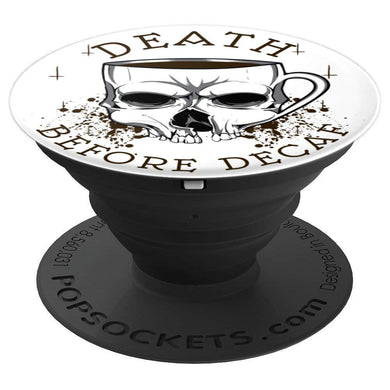 Skull Pop Socket | Coffee Pop Socket - PopSockets Grip and Stand for Phones and Tablets