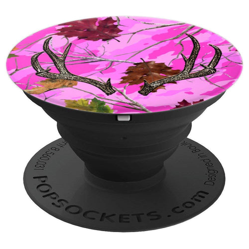 Pink Camo Deer Antler - PopSockets Grip and Stand for Phones and Tablets