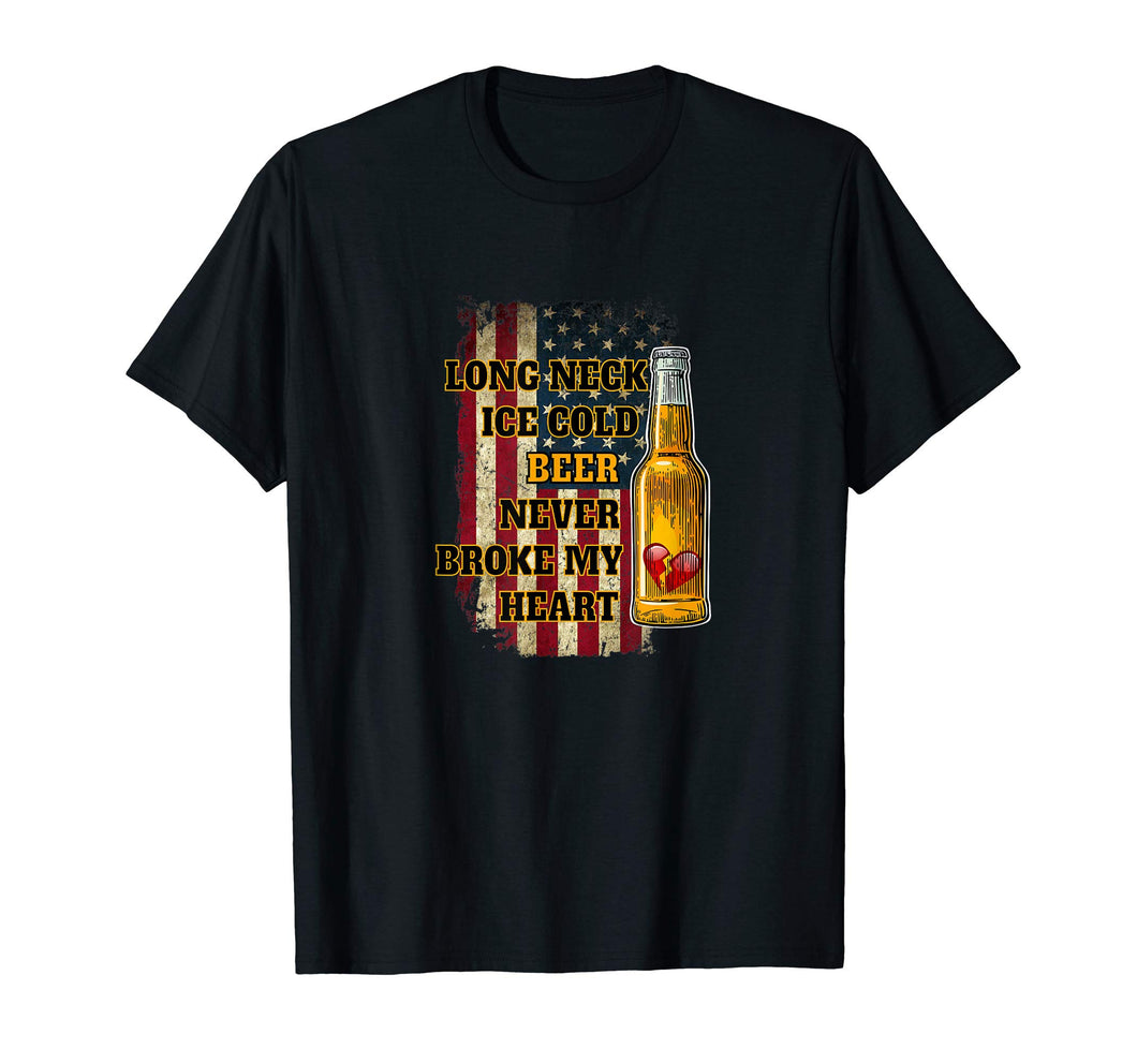 Long Neck Ice Cold Beer Shirt T-Shirt