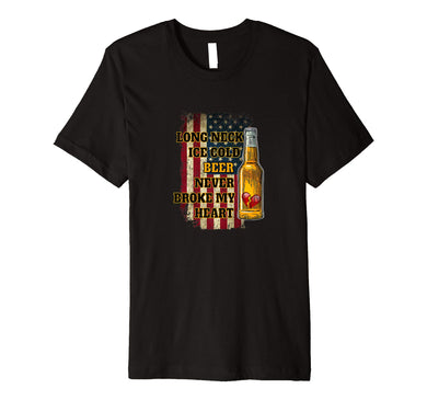 Long Neck Ice Cold Beer Shirt Premium T-Shirt