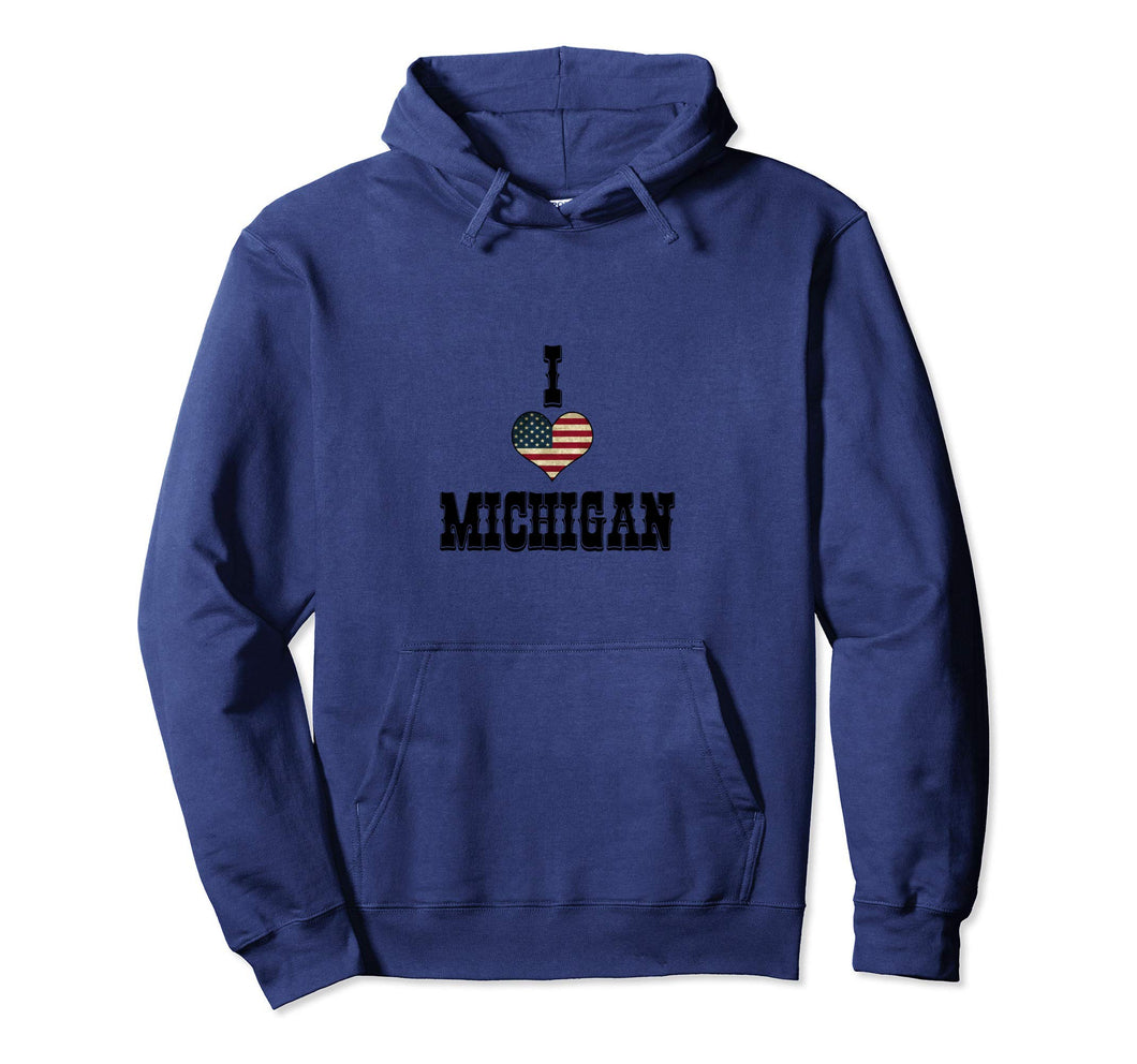 I Love Michigan Pullover Hoodie