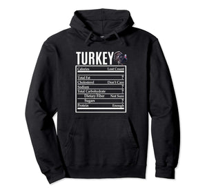 Funny Thanksgiving Turkey Nutrition Pullover Hoodie