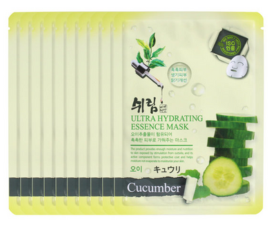 (5 Sheet Masks) Shelim Cucumber Ultra Hydrating Essence