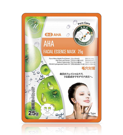 MITOMO Natural AHA Pore Care Moisturizing Face Mask Sheet (10 Pieces)