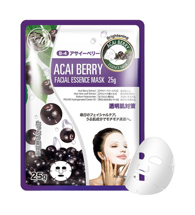 MITOMO Natural Acai Berry Brightening Face Mask Sheet (10 Pieces)