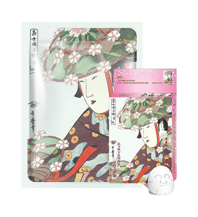 (10 Pieces)Mitomo Aloe + Cherry Blossom Facial Essence Mask