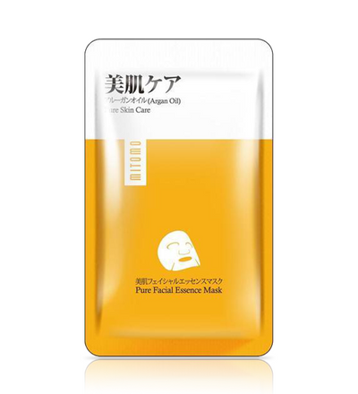 (6 Pieces) Mitomo Japan Argan Oil Pure Care Facial Essence Mask