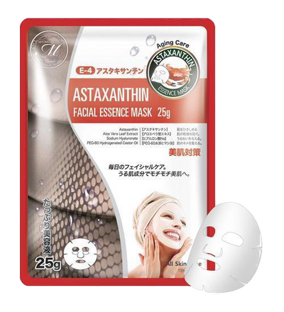 MITOMO Natural Astaxanthin Anti-Aging Care Face Mask Sheet (10 Pieces)