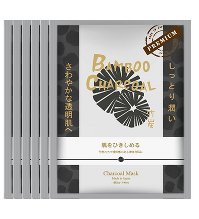(6 Pieces) Sincere Laura Bamboo Charcoal Facial Essence Mask