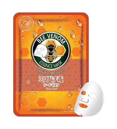 MITOMO Natural Bee Venom Cleanliness Moisturizing Face Mask Sheet (10 Pieces)