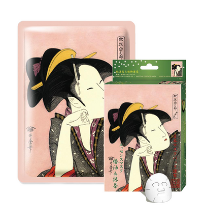 Mitomo Camellia + Matcha Moisturizing Face Mask Sheet (10 Pieces)