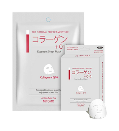 Mitomo Collagen + Q10 Elasticity Face Mask Sheet (10 Pieces)