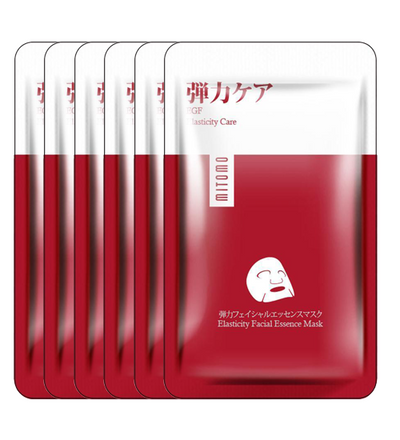 (6 Pieces) Mitomo Japan EGF Elasticity Care Facial Essence Mask