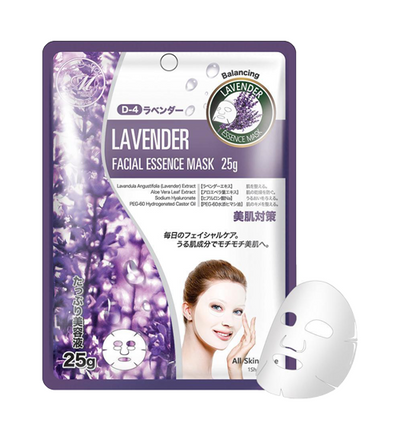 MITOMO Natural Lavender Balancing Face Mask Sheet (10 Pieces)