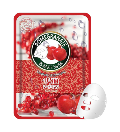 (10 Pieces) MITOMO Natural Pomegranate Brightening Vibrancy Facial Essence Mask