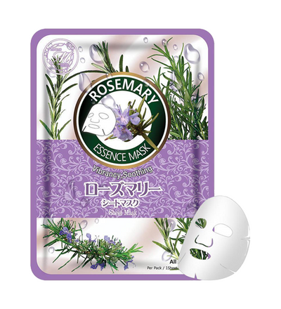 (10 Pieces) MITOMO Natural Rosemary Vibrancy Smoothing Facial Mask