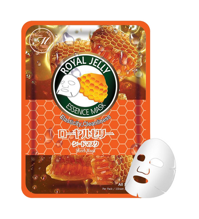 (10 Pieces) MITOMO Natural Royal Jelly Elasticity Cleanliness Facial Essence Mask