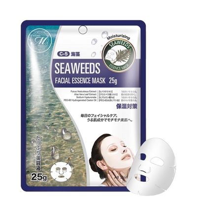 (10 Pieces) MITOMO Natural Seaweed Purifying Facial Essence Mask
