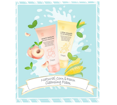 Set Ja Yeon Mapping Face Mask & Imyss Peach Pore Control Cleansing Foam