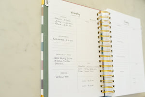 Example of how to use a planner page in the Organized Photographer planner