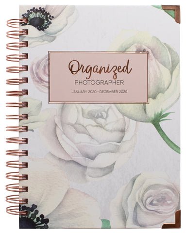 Floral watercolor cover 2020 Planner for Photographers