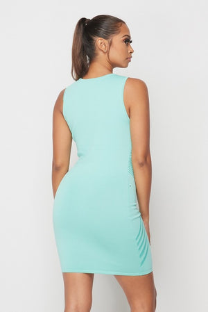 Don't Believe Me Dress Mint - BellaBena