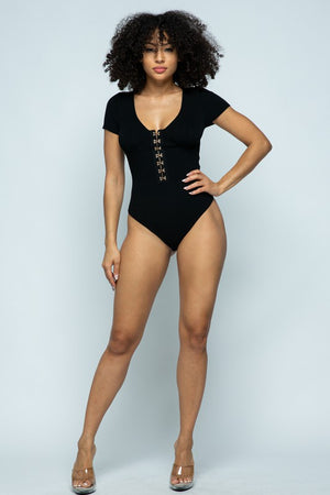 Take A Look Bodysuit Black