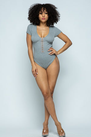 Take A Look Bodysuit Grey