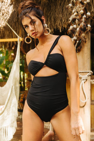 Gina Asymmetric One Piece Swimwear - BellaBena