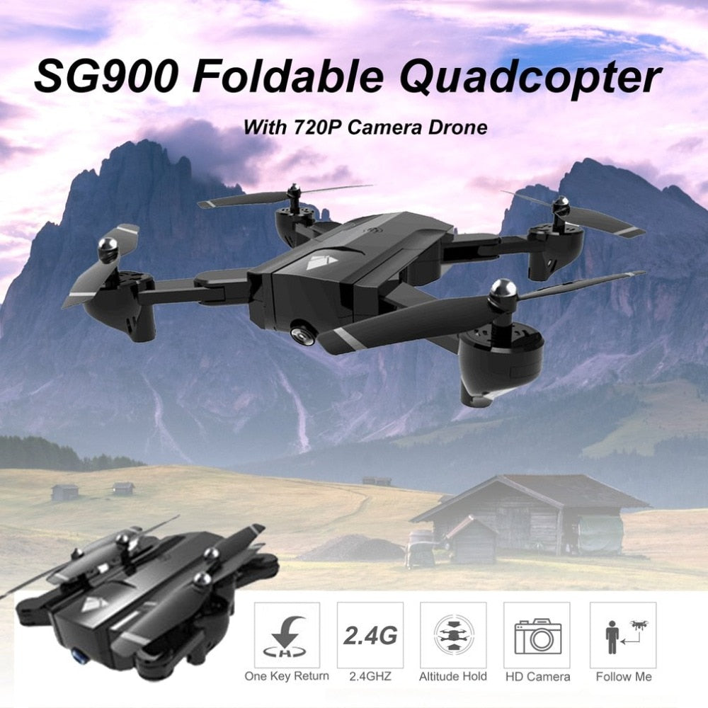 SG900 Foldable RC Drone With 720P Camera Quadcopter 2 4GHz 720P Drone  Quadcopter WIFI FPV Drones Optical Flow Positioning
