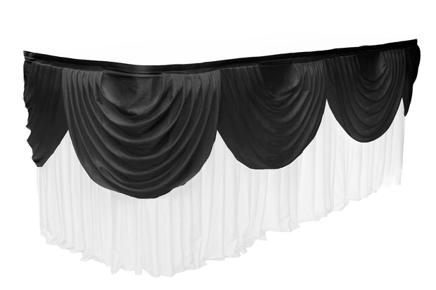 Ice Silk Satin 3m Swag  - Black Fitted To Ice Silk Satin Skirt