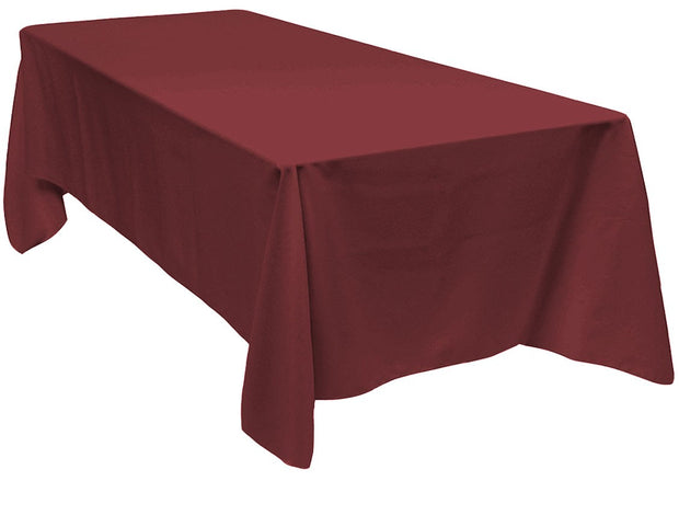 Burgundy Rectangle Tablecloth (137x244cm)