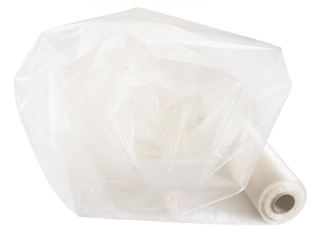 Organza Fabric Roll - Ivory