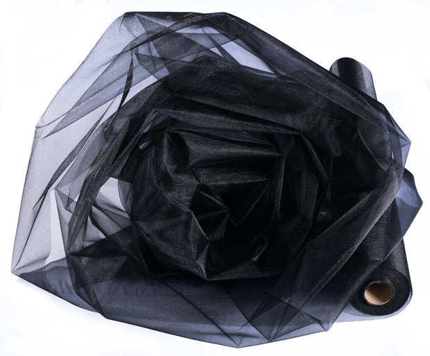 Organza Fabric Roll - Black