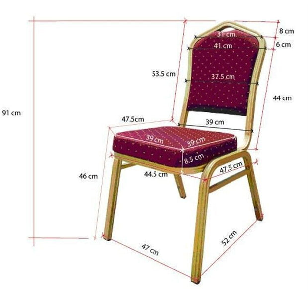 Lycra Chair Cover Dimensions