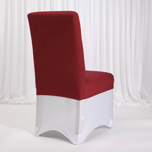Lycra Chair Covers (Toppers) - Wine Red Back With Lycra Chair Cover (Not Included)