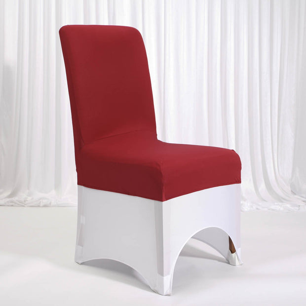 Lycra Chair Covers (Toppers) - Wine Red With Lycra Chair Cover (Not Included)