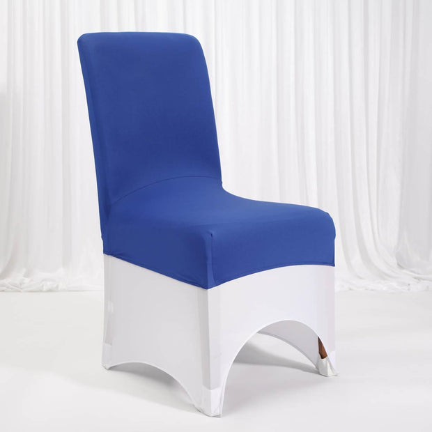 Lycra Chair Covers (Toppers) - Royal Blue With Lycra Chair Cover (Not Included)