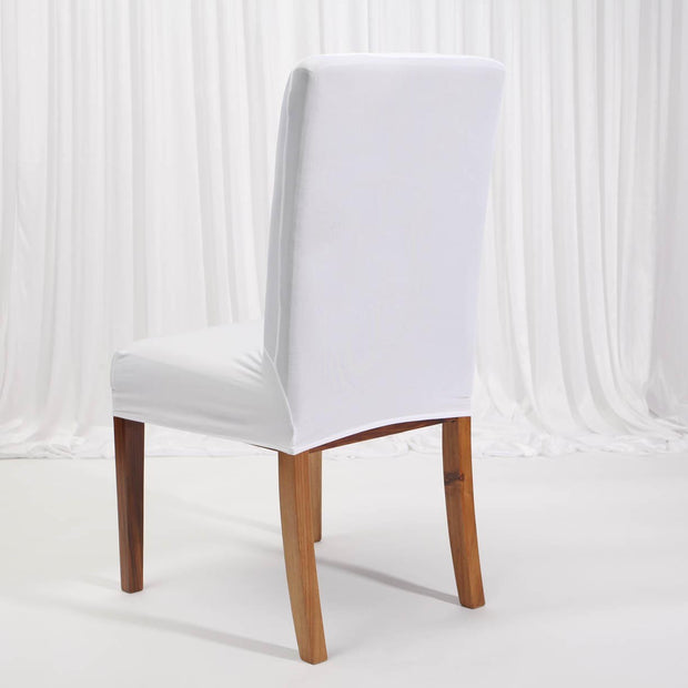 Lycra Chair Covers (Toppers) - White Back On Dining Chair