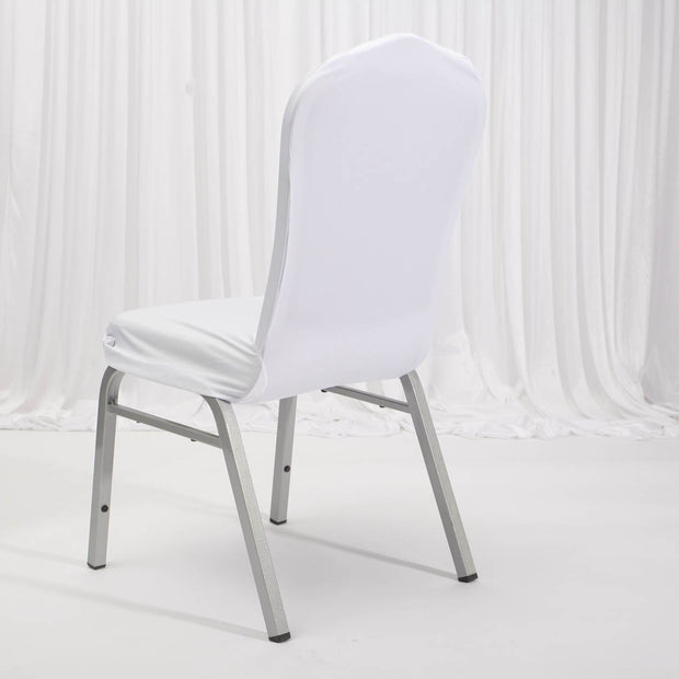 Lycra Chair Covers (Toppers) - White Back On Banquet Chair