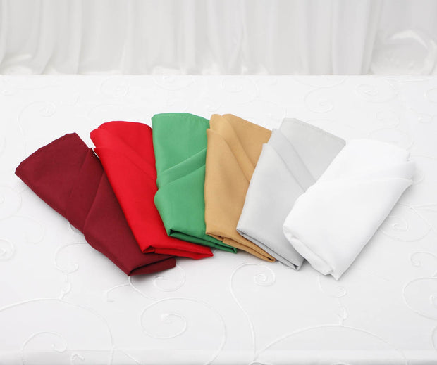 Cloth Napkins - Red (50x50cm) Colour Group Options